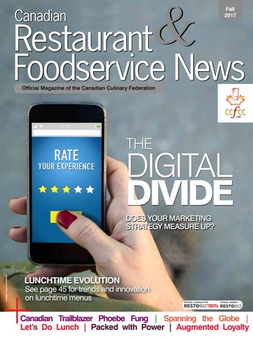 Canadian Restaurant Foodservice News Fall 2017 By