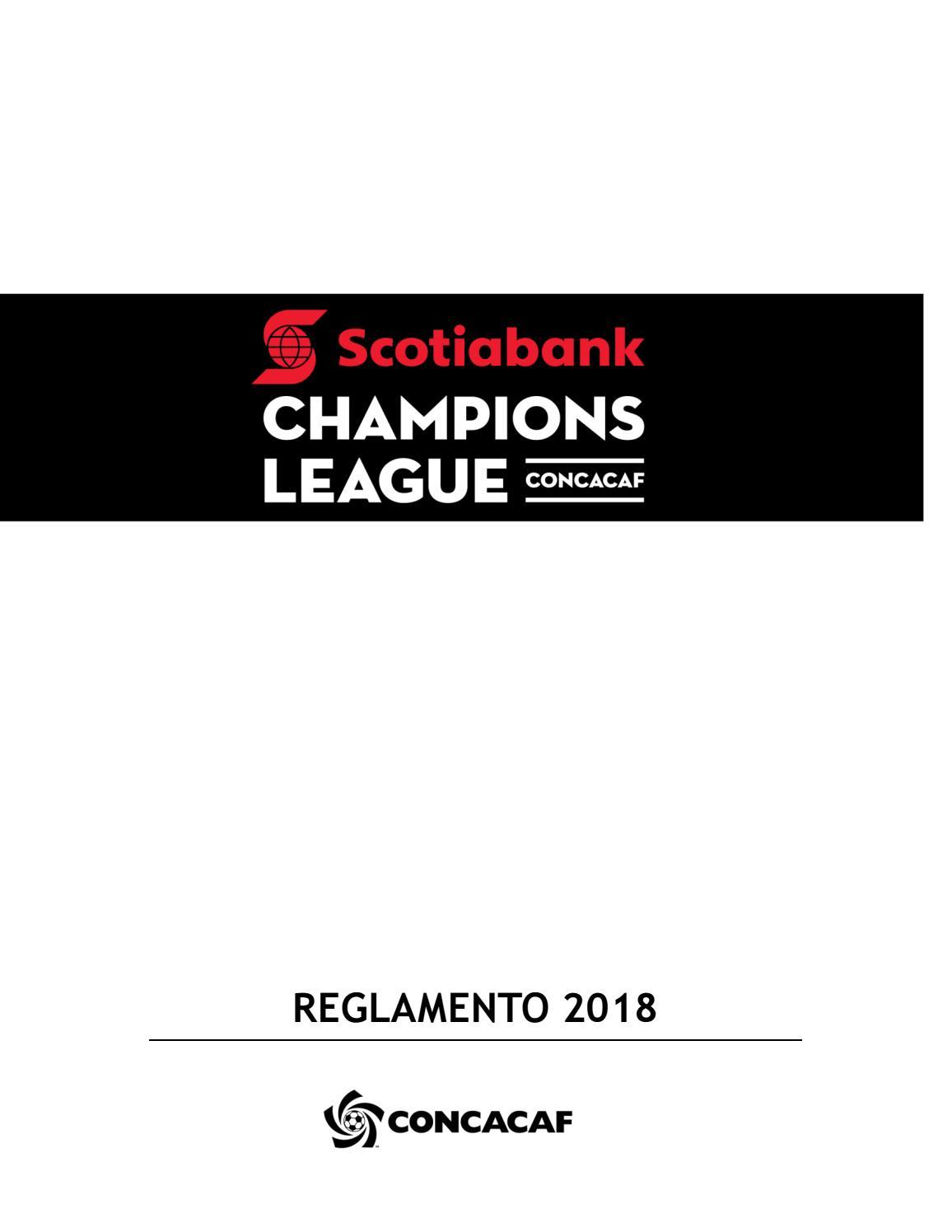Liga de Campeones CONCACAF Scotiabank - Reglamento 2018 by ...