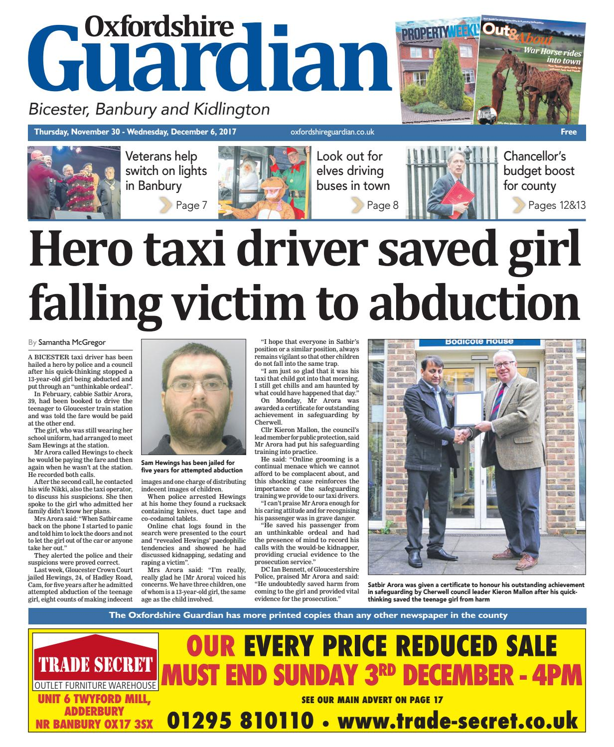 00cc3d5142abdb 30 november 2017 oxfordshire guardian bicester by Taylor Newspapers - issuu