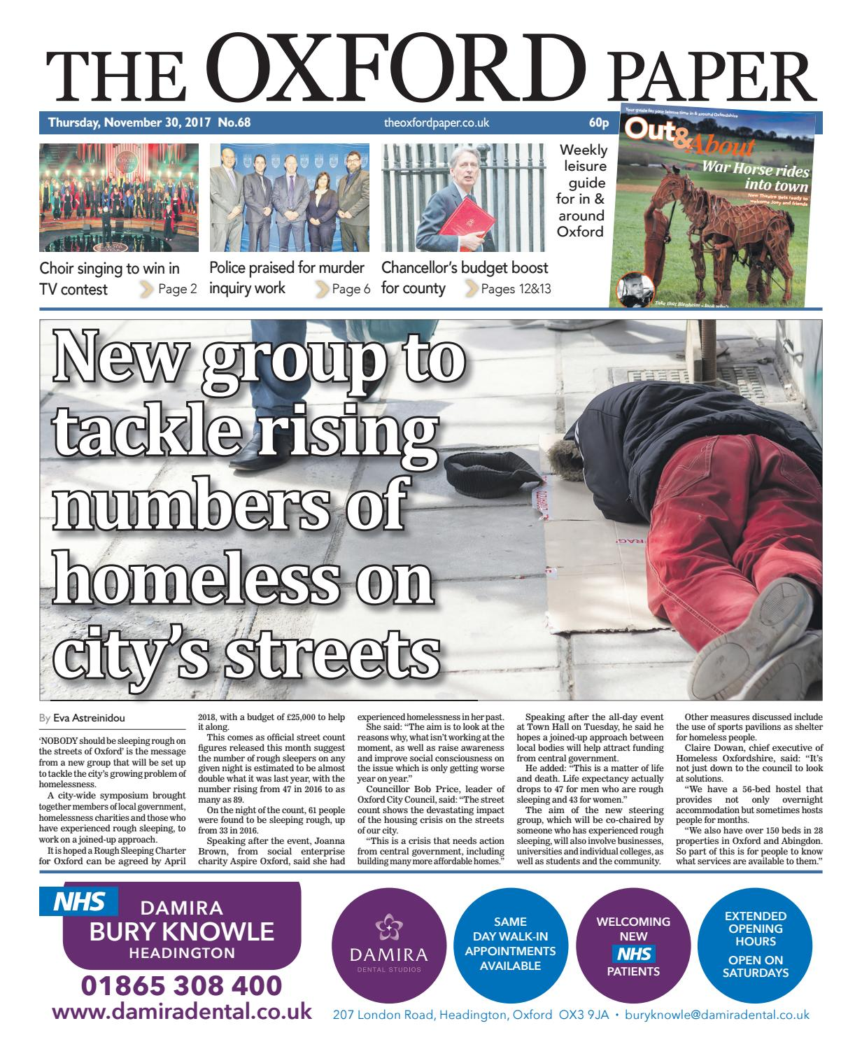 30 november 2017 the oxford paper by Taylor Newspapers - issuu
