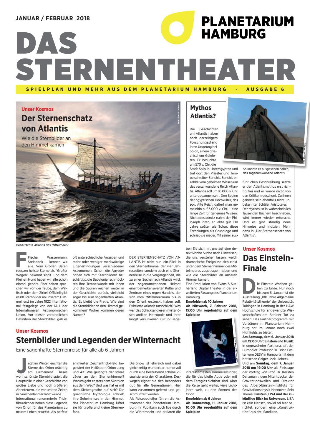 Das Sternentheater Jan Feb 2018 Ausgabe 06 By Planetarium Hamburg Issuu