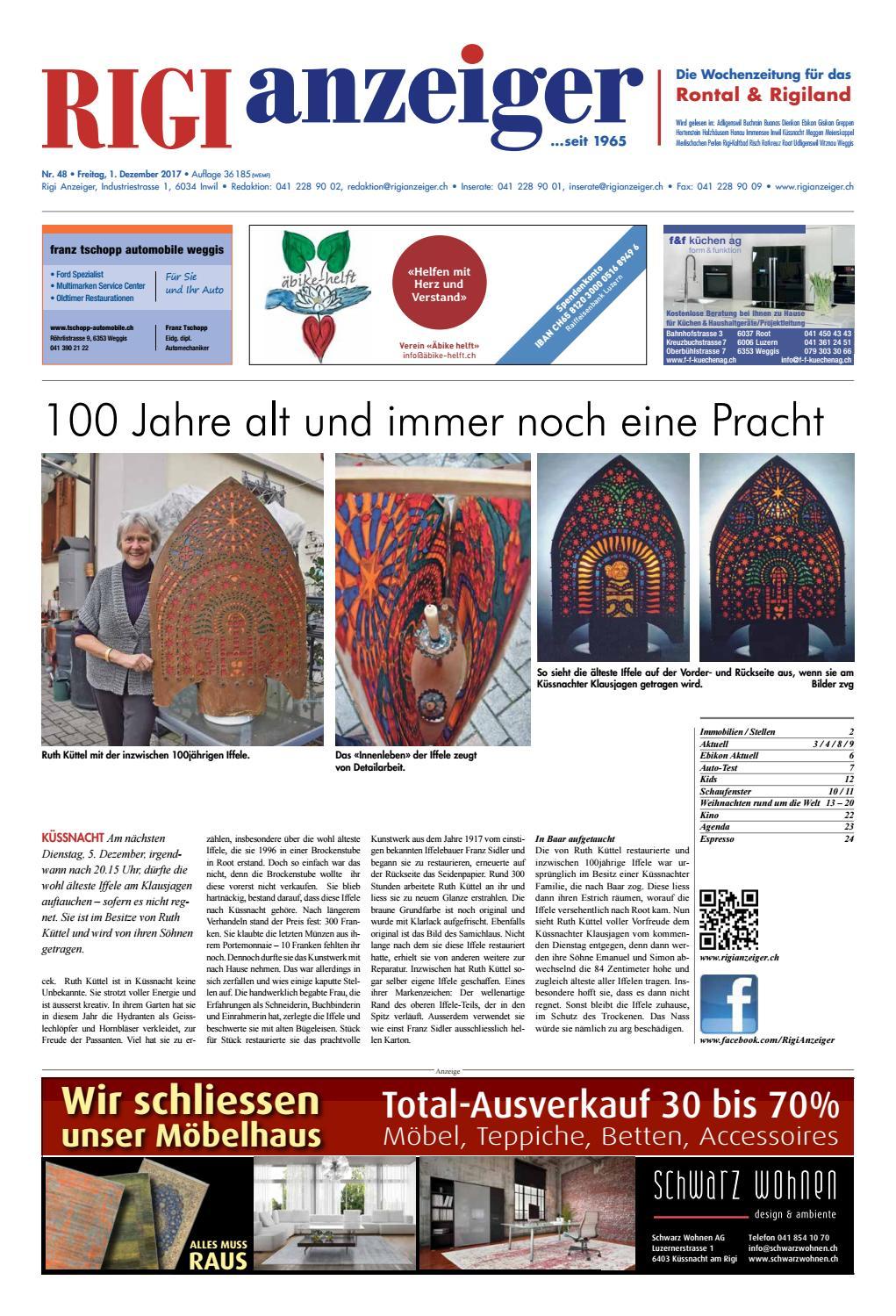 Rigi Anzeiger, 1. Dezember 2017 by Rigi Anzeiger GmbH - issuu