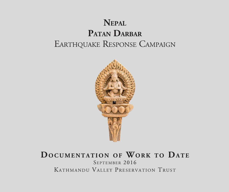 KVPT's Patan Darbar Earthquake Response Campaign - Work to