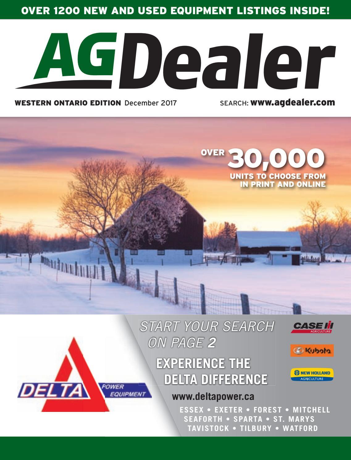 AGDealer Western Ontario Edition, November 27, 2017 by Farm