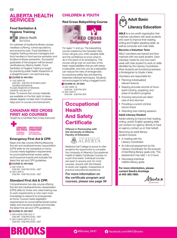Medicine Hat College Continuing Studies Catalogue by Medicine Hat