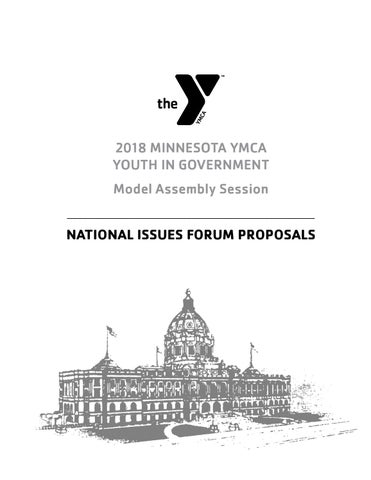 2018 National Issues Forum Proposals by Minnesota YMCA Youth in