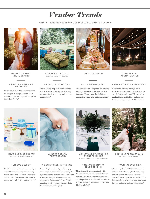 Dainty Obsessions v 6   no 1 Wedding Magazine by Dainty