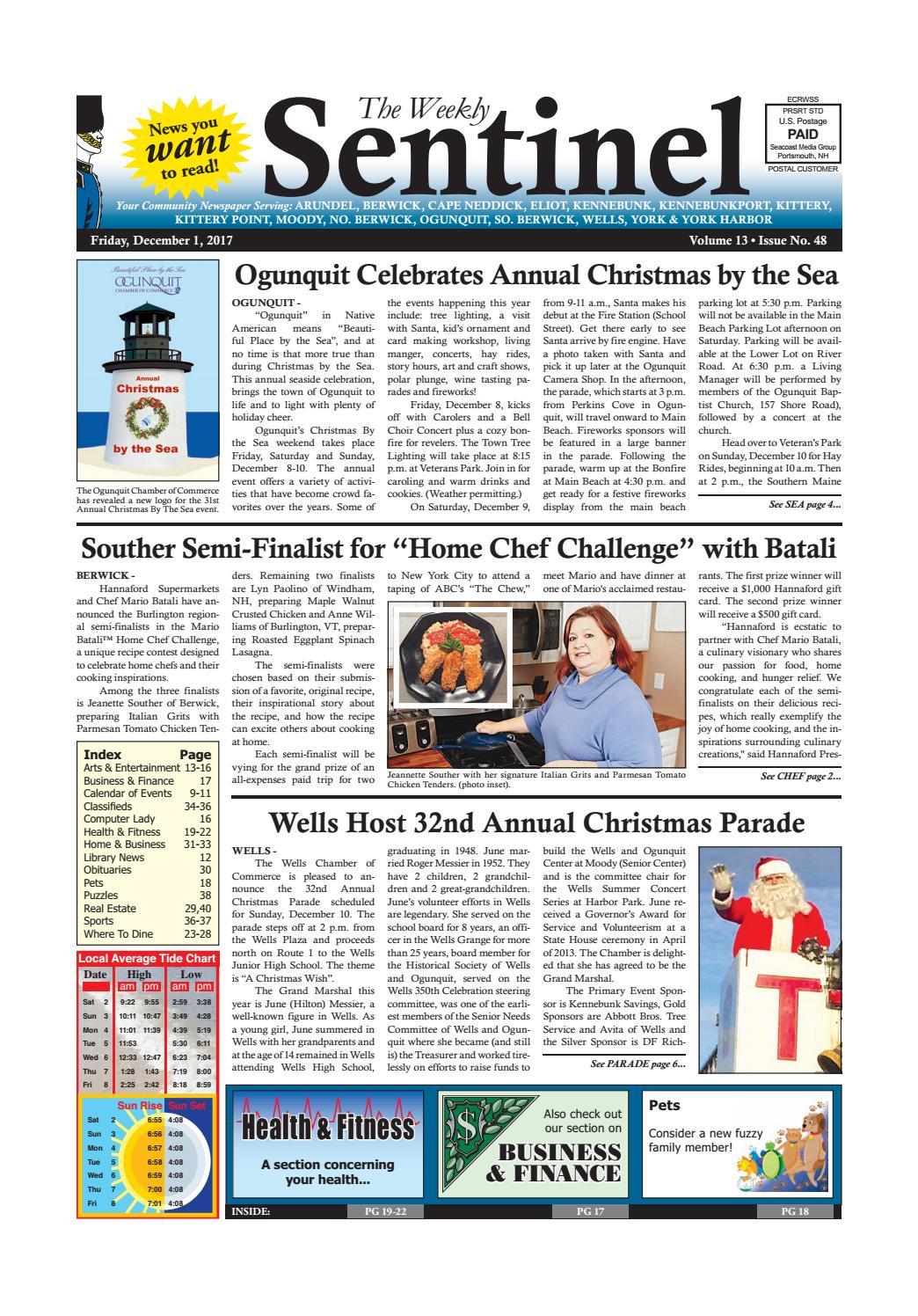 WS Dec. 1, 2017 by Weekly Sentinel issuu