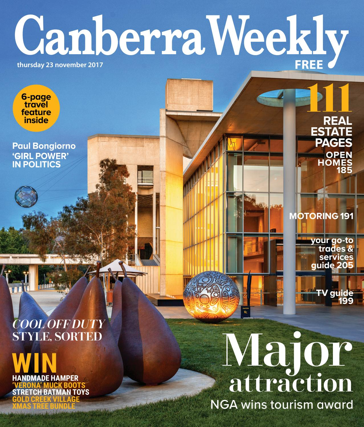 5b187938c157 23 November 2017 by Canberra Weekly Magazine - issuu