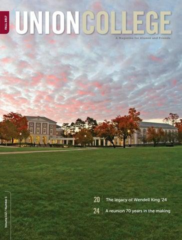 Union Magazine Fall 2017 by Union College - issuu
