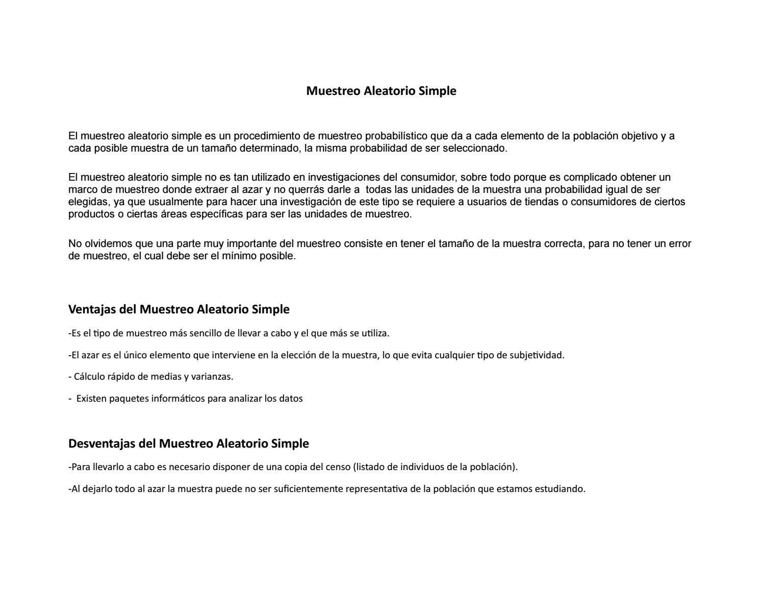 Muestreo aleatorio simpleee trabajo by eduarc175 - issuu