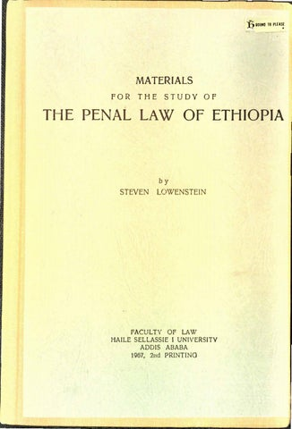 69c5bb6976ab Materials for the Study of the Penal Law of Ethiopia by Steven ...