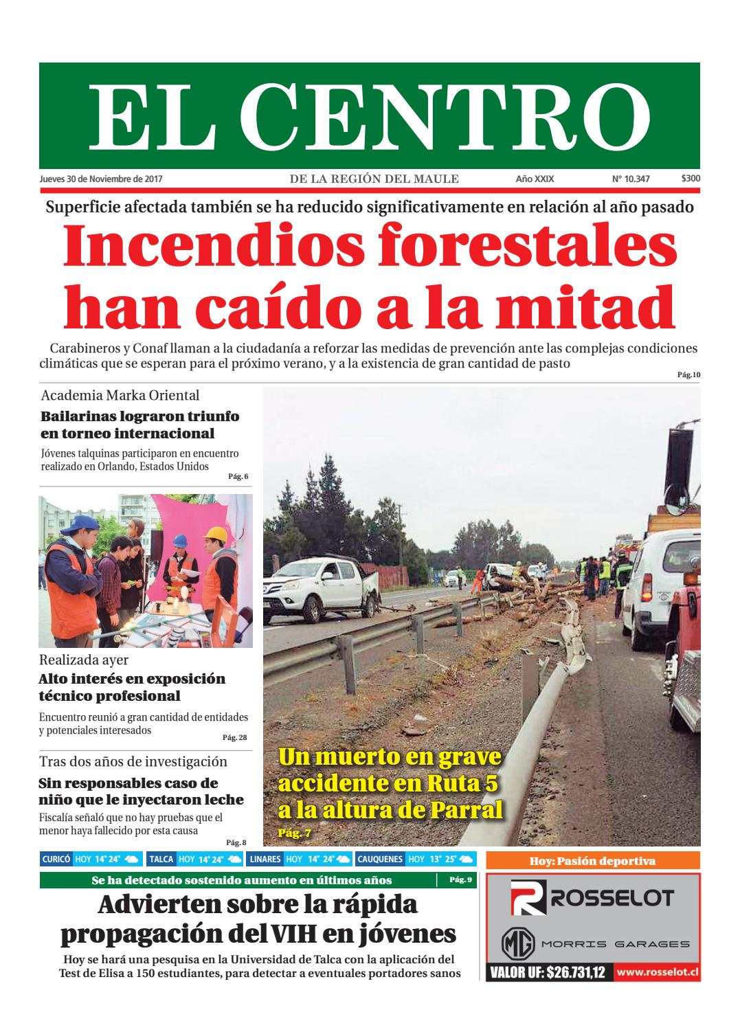 0be286dbe9 Diario 30-11-2017 by Diario El Centro S.A - issuu