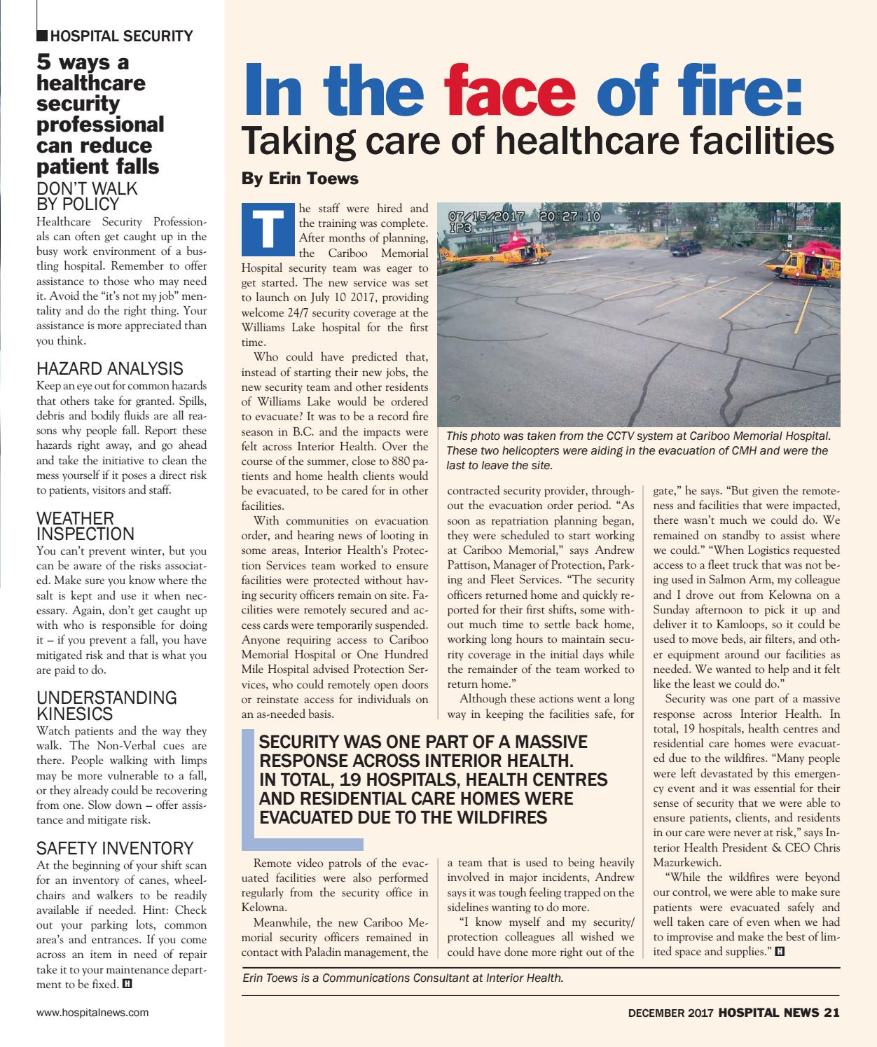 e0163fdb92d Hospital News 2017 December Edition by Hospital News - issuu