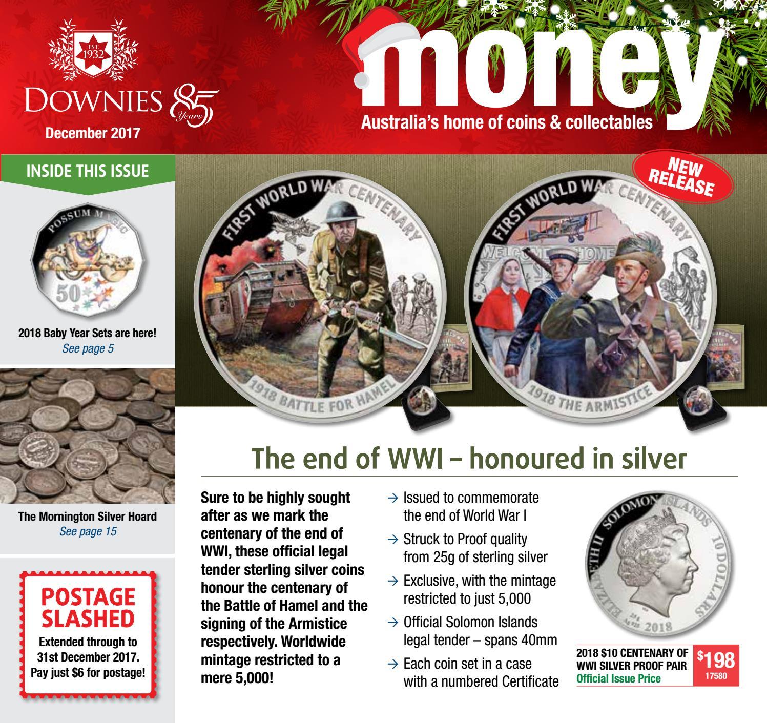 1942-D Australia Sixpence Brilliant Uncirculated Silver Coin Denver Mint
