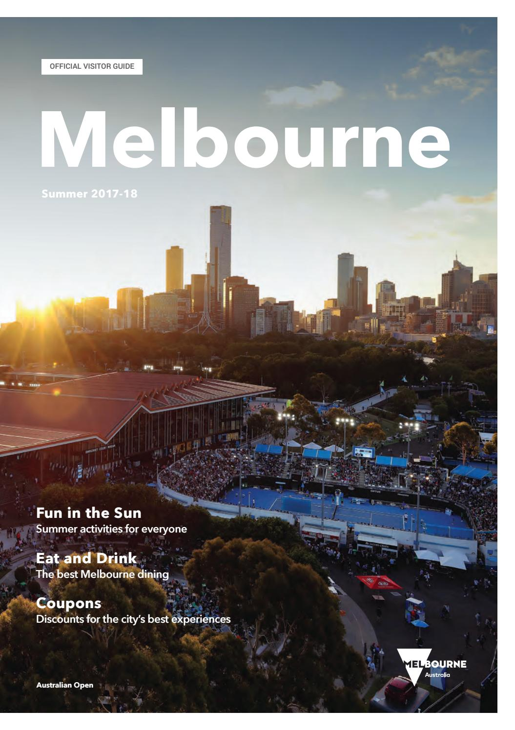 b5dd8e83c4 Melbourne Official Visitors Guide - Summer 2018 by Destination Melbourne -  issuu