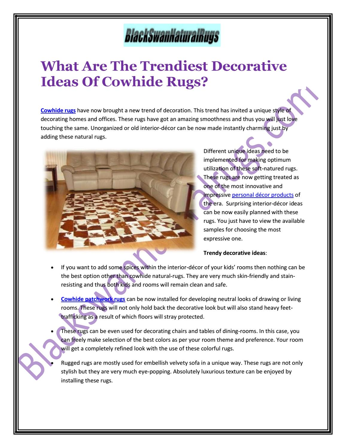 Tremendous What Are The Trendiest Decorative Ideas Of Cowhide Rugs By Gmtry Best Dining Table And Chair Ideas Images Gmtryco