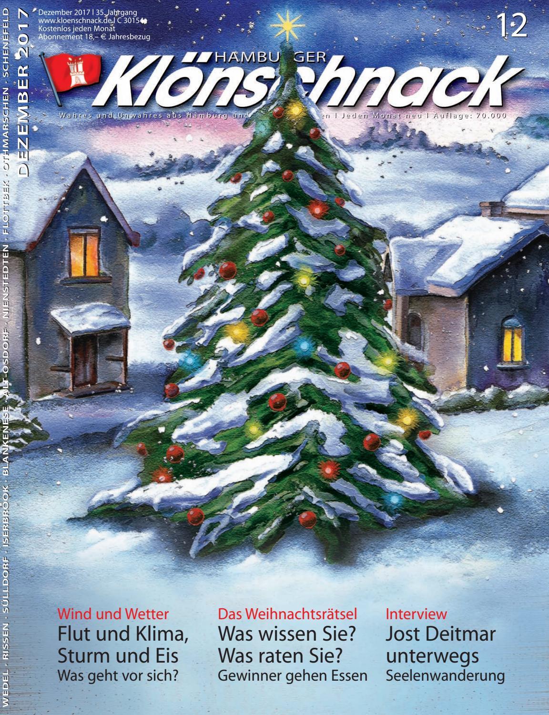 Kloenschnack Dezember 2017 by Hamburger Klönschnack - issuu