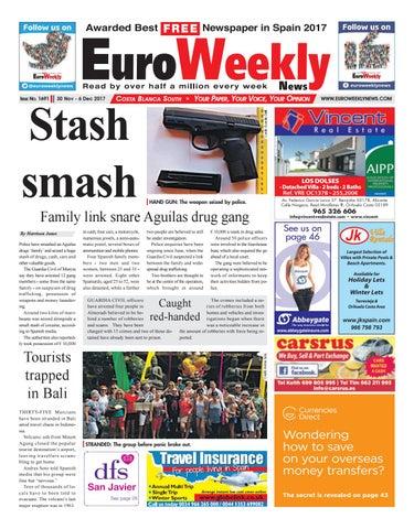 Euro Weekly News Costa Blanca South 30 November 6 December 2017