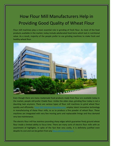 Manufacture commercial wheat flour bread