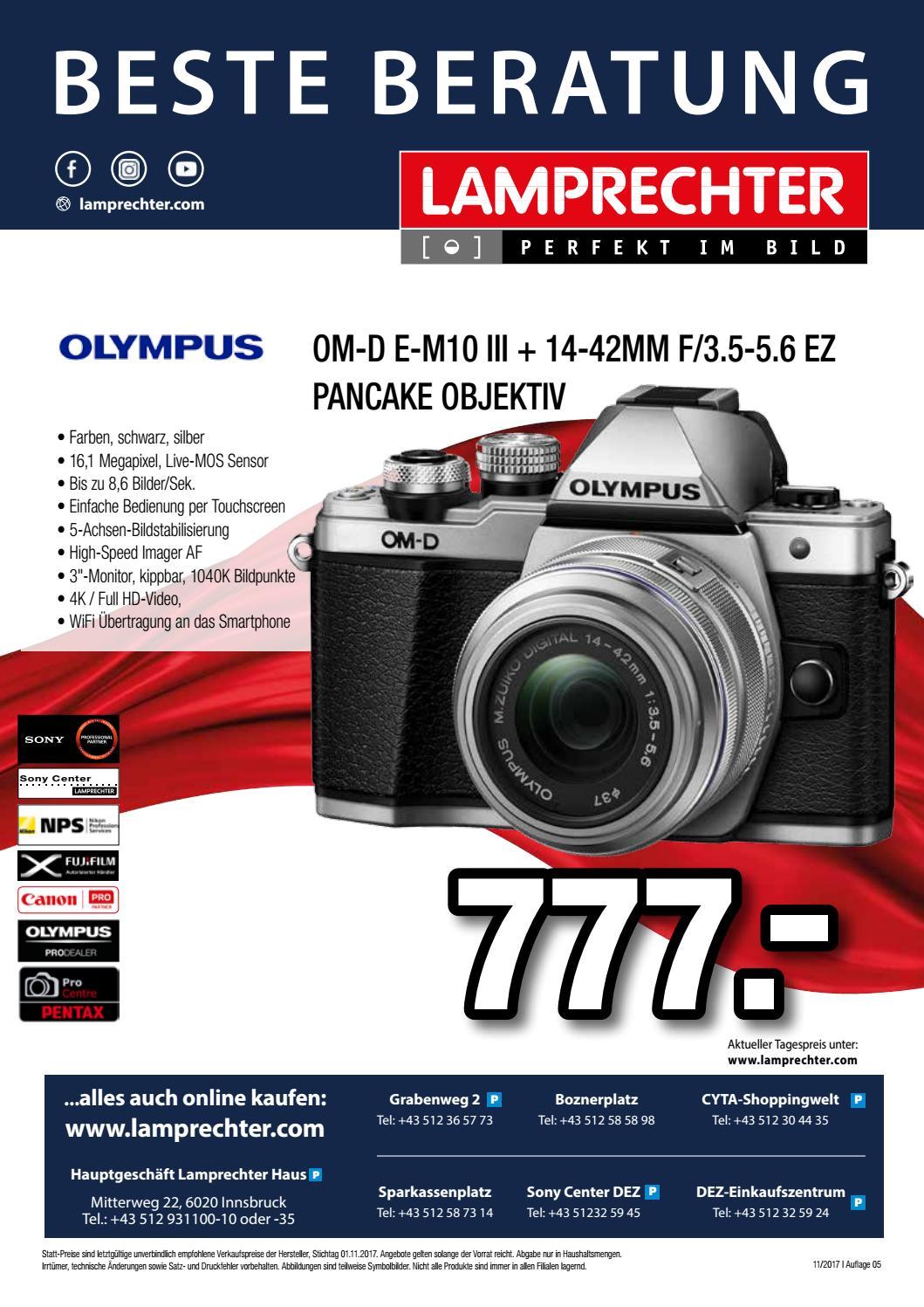 Foto Lamprechter Hauskatalog November Dezemeber 2017 By Canon Eos 7d Mark Ii Kit 18 135mm Nano Usm With Wifi Adapter W E1 Issuu