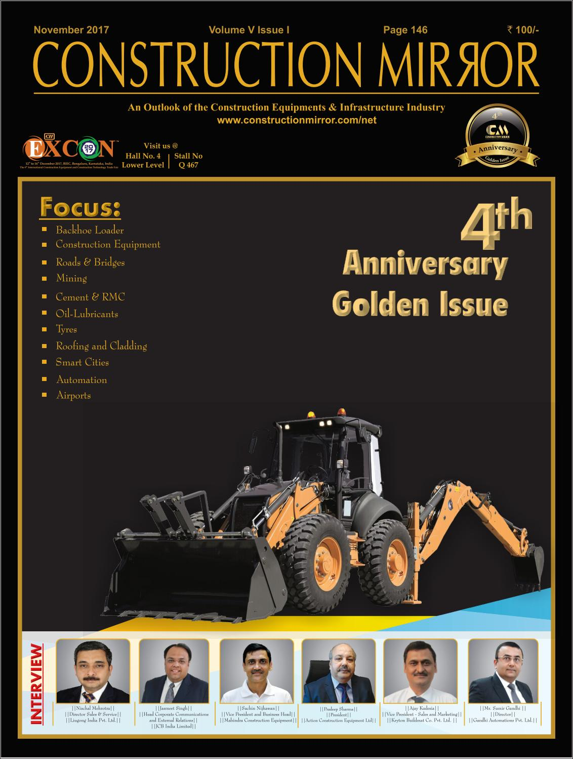 Construction Mirror Magazine November 4th Anniversary Golden Issue Clearance Michelin Pilot Sport 3 225 50r16 Ban Mobil 2017 By Issuu