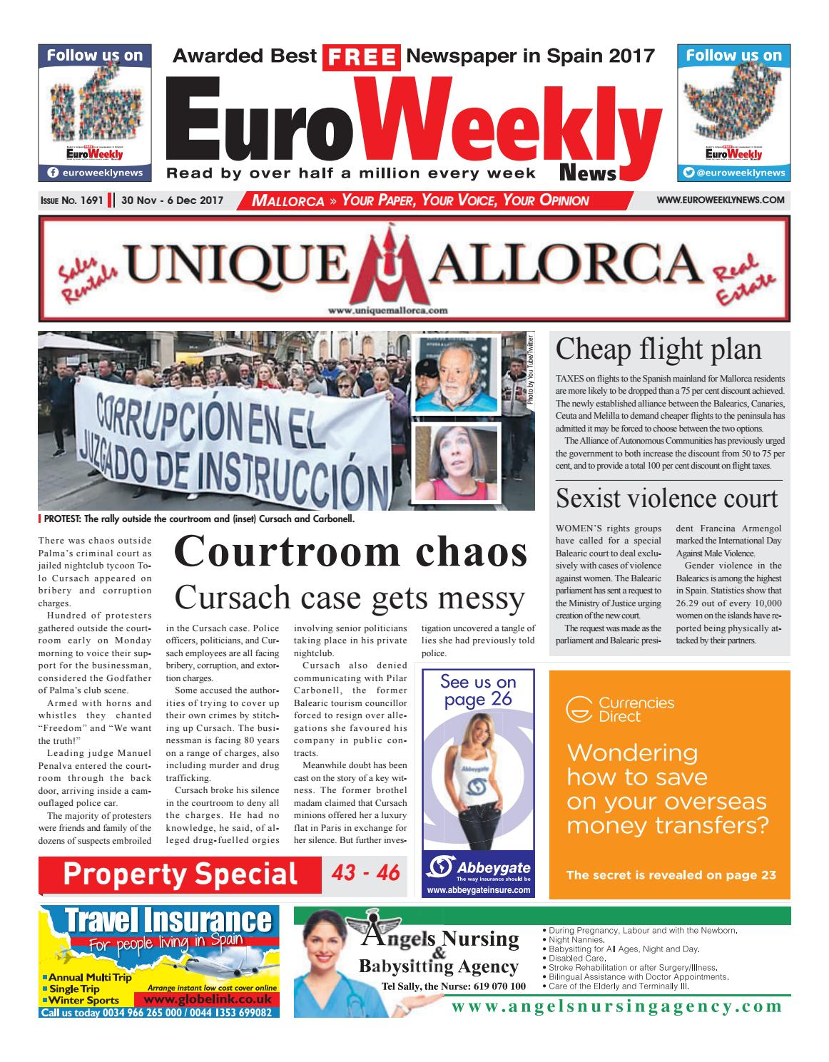 Weihnachtskekse Swing.Euro Weekly News Mallorca 30 November 6 December 2017 Issue 1691