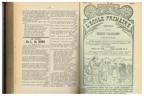 Primaire20 12 Novembre De 1903 No By RésonancesMensuel L L'ecole WH9IYED2