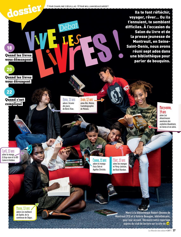 Vive Les Livres Dossier Du Monde Des Ados N 397 Special