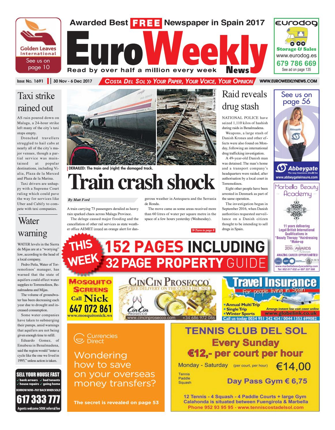 Euro Weekly News - Costa del Sol 30 November – 6 December 2017 Issue 1691  by Euro Weekly News Media S.A. - issuu 2177613fb47