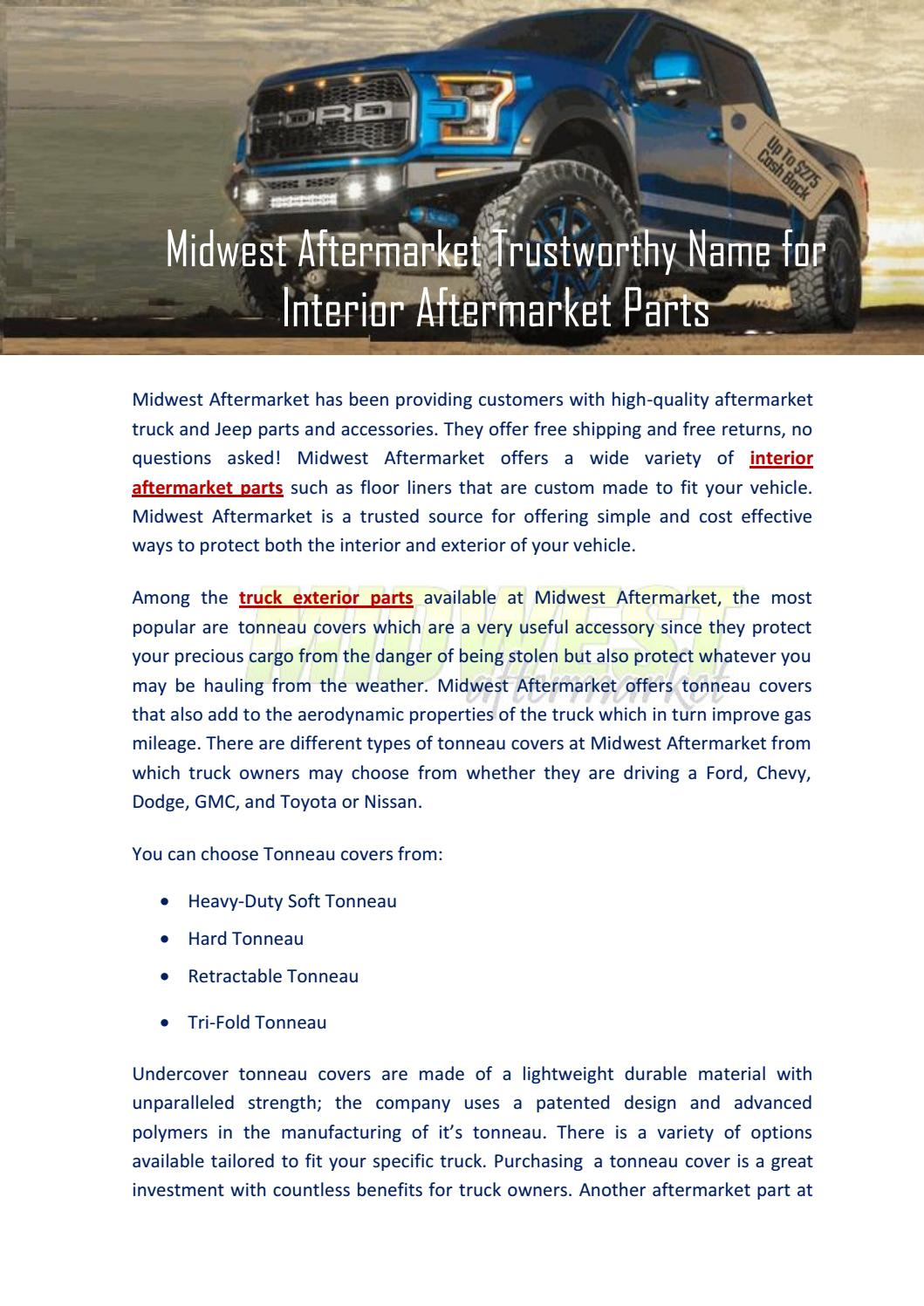 Midwest Aftermarket Trustworthy Name For Interior Aftermarket Parts By Midwest Aftermarket Issuu