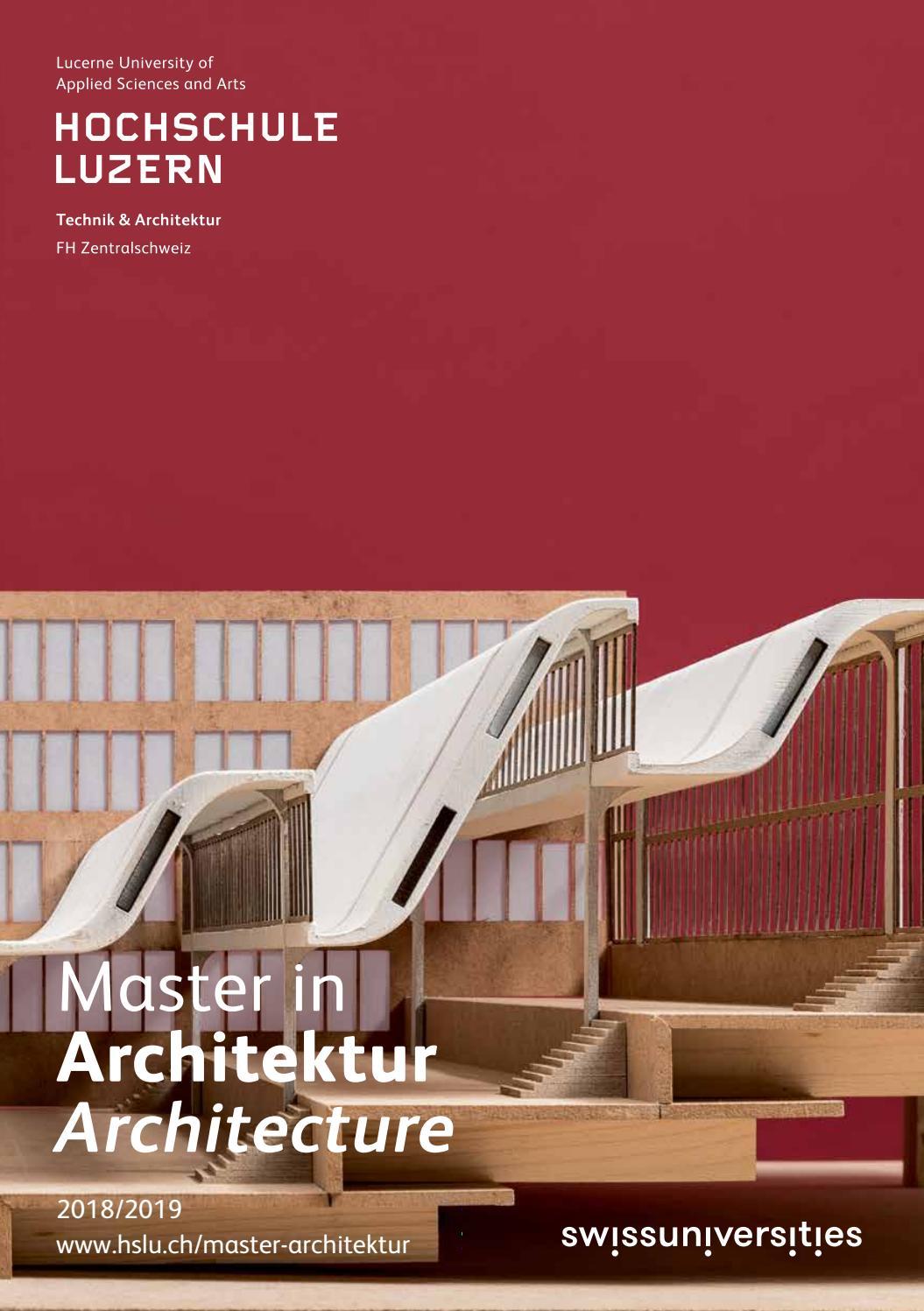 Studienführer 2018/2019 Master in Architektur by Master Architektur ...
