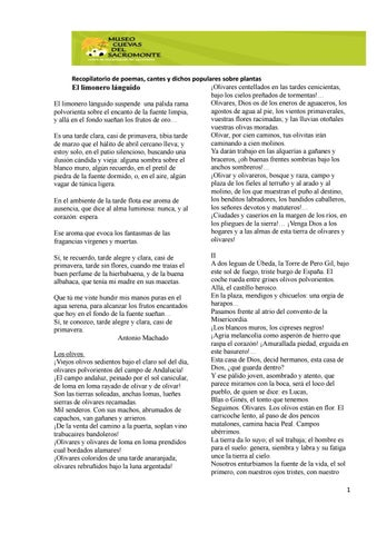 Poemas Sobre Plantas By Museo Cuevas Del Sacromonte Issuu