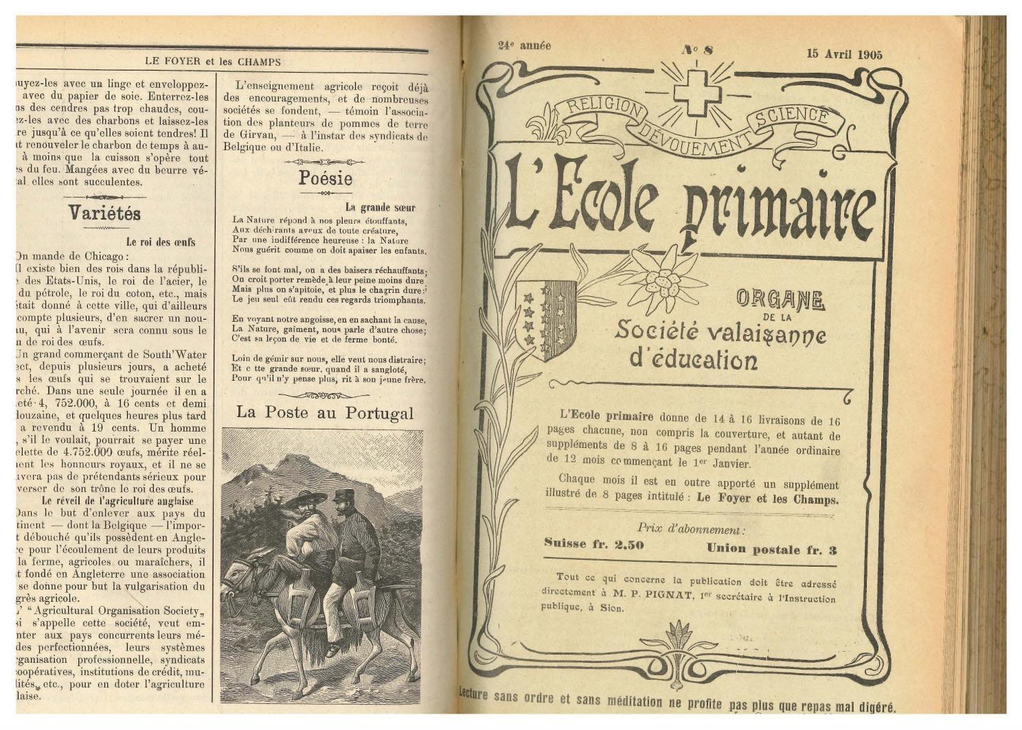 RésonancesMensuel 08 Avril 1905 L'ecole No Primaire15 By PkXwn8O0