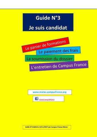 3 Guide Campus France Maroc Le Panier De Formations Le Paiement