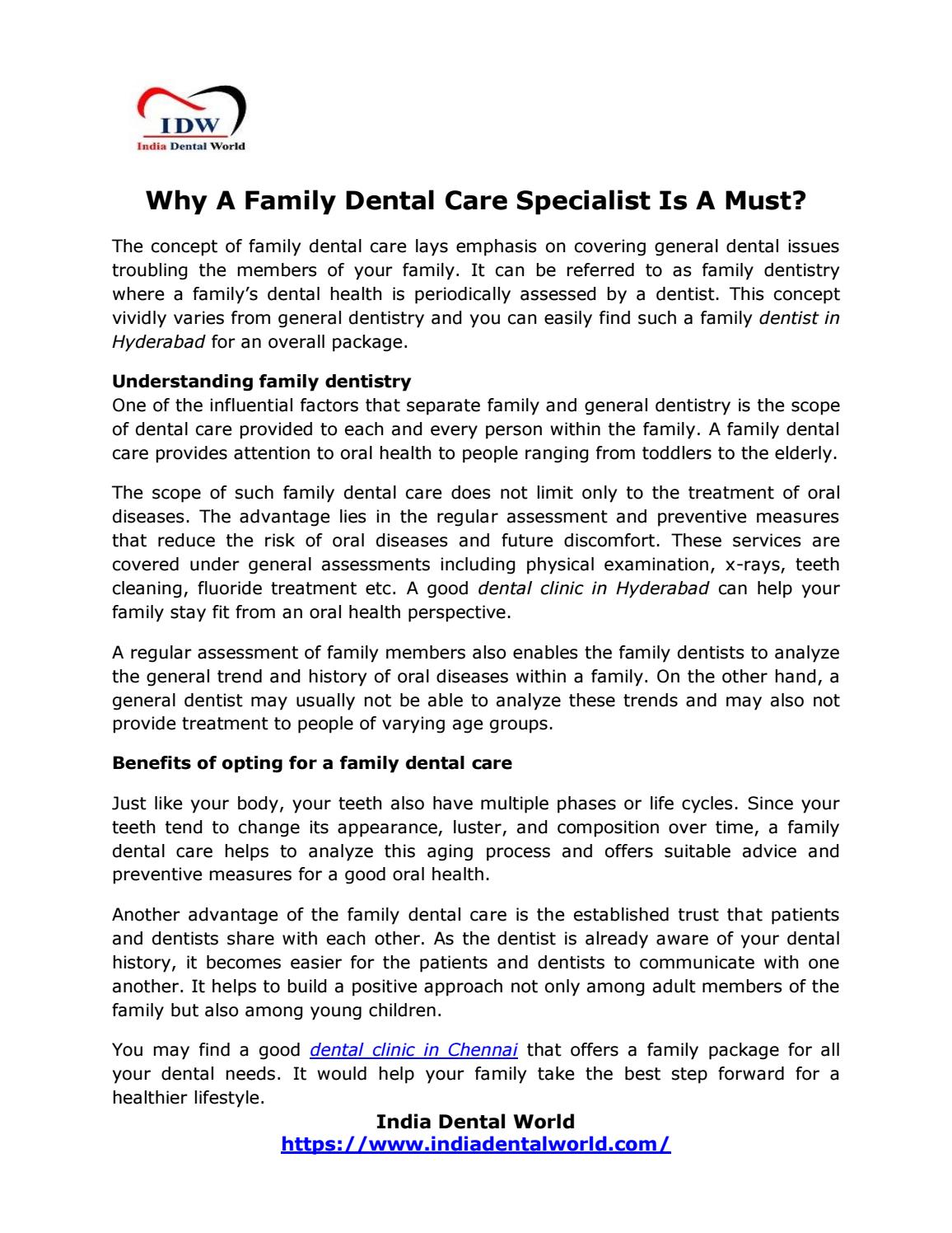 Scope preventive dentistry india essay