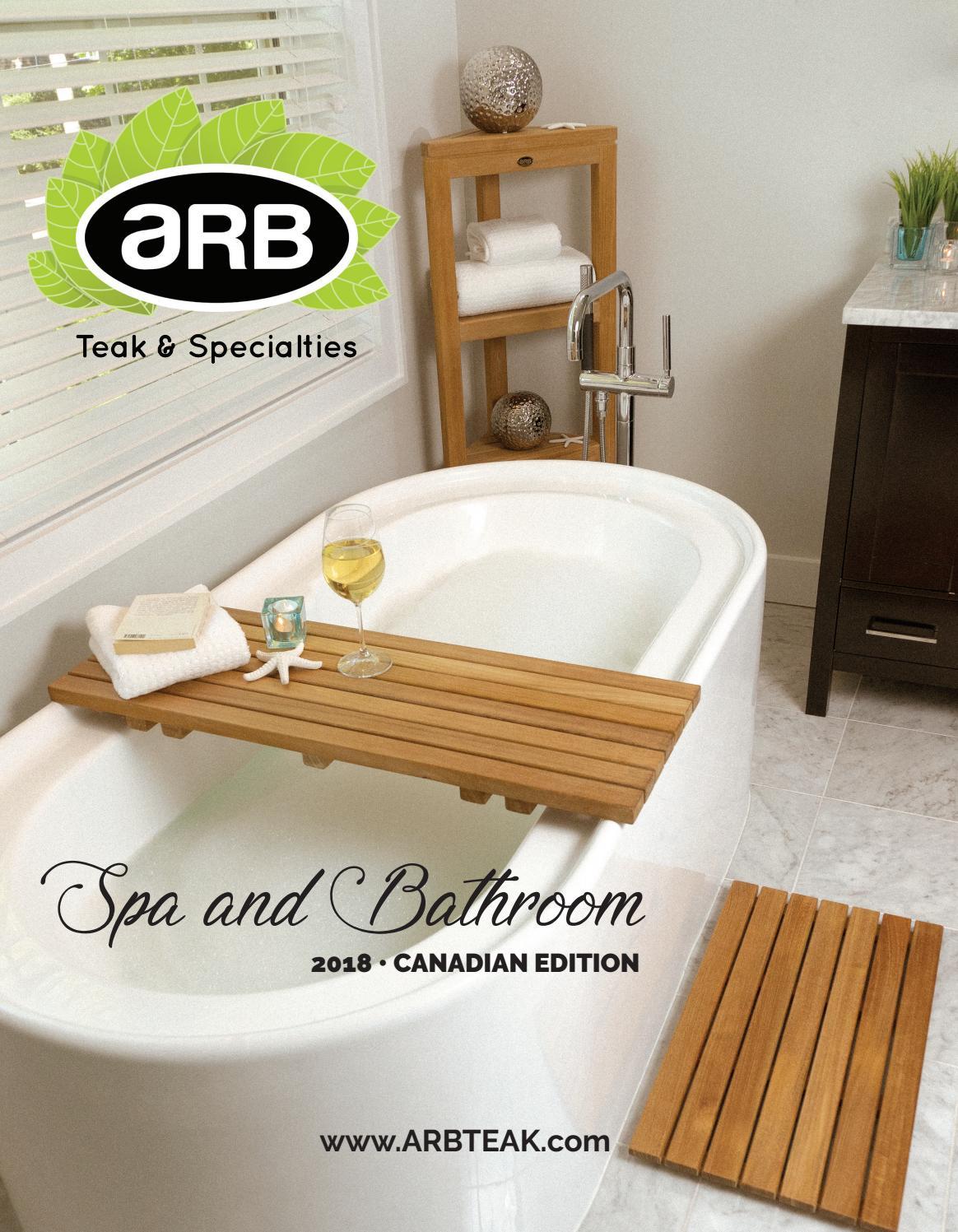 Arb Teak 2018 Spa And Bathroom Catalog Canada By Arb Teak Specialties Issuu