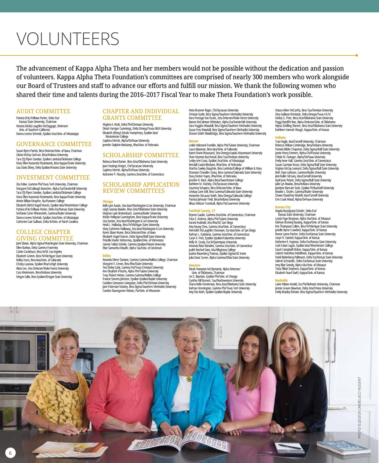 2016-17 Annual Report by Kappa Alpha Theta Foundation - issuu