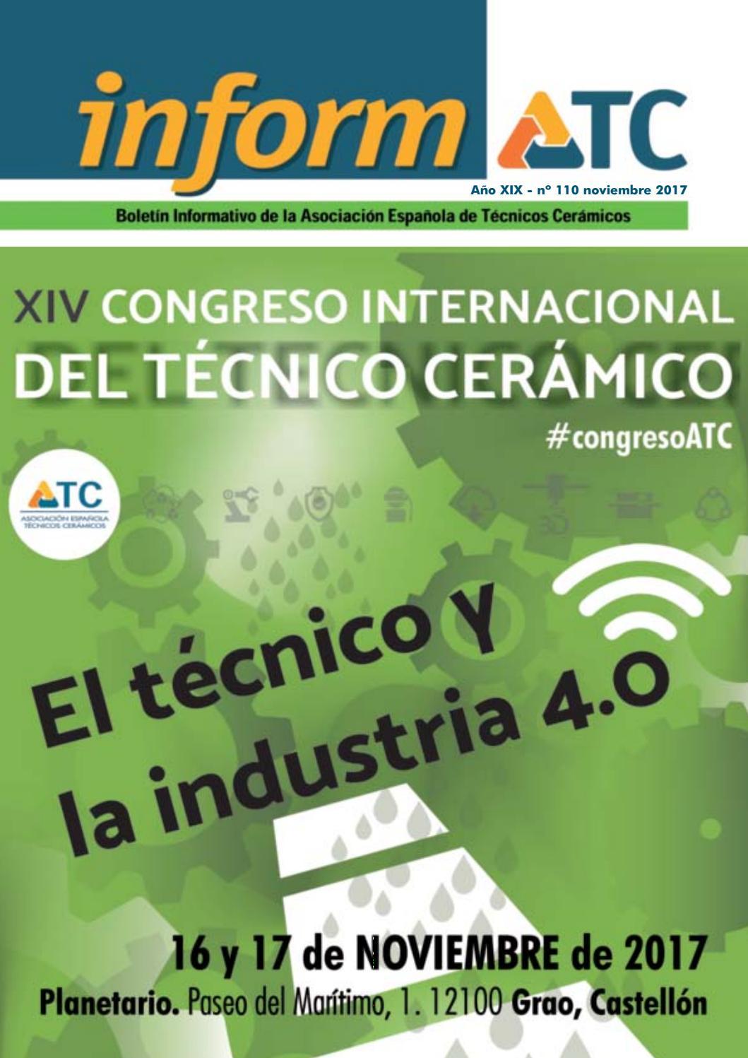 InformATC 110 by Asociación Española de Técnicos Cerámicos (ATC) - issuu