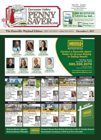 Dansville-Wayland Edition of The Genesee Valley Penny Saver