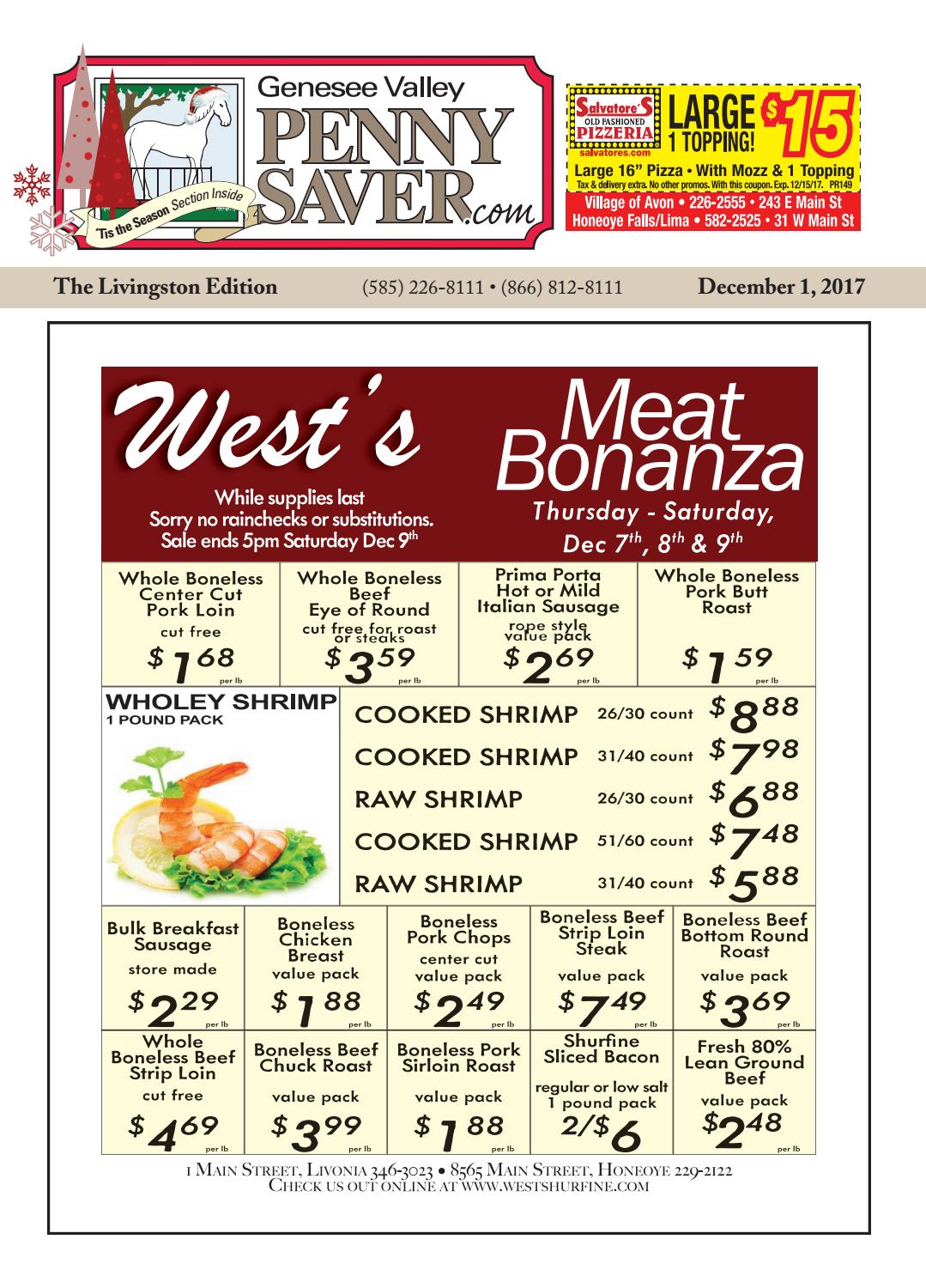 Livingston Edition of The Genesee Valley Penny Saver 12/1/17 by ...