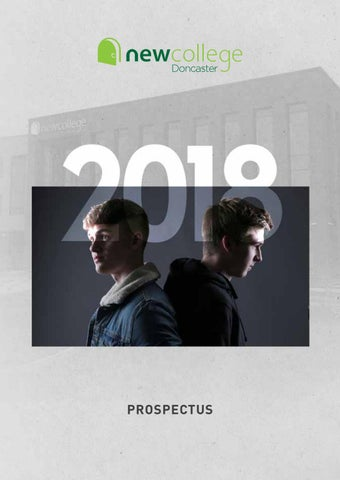 0b55bc82b09 New College Doncaster Prospectus 2018 by New College - issuu