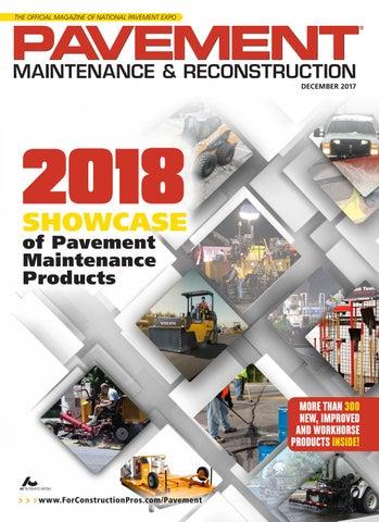 Pavement Maintenance & Reconstruction December 2017 by