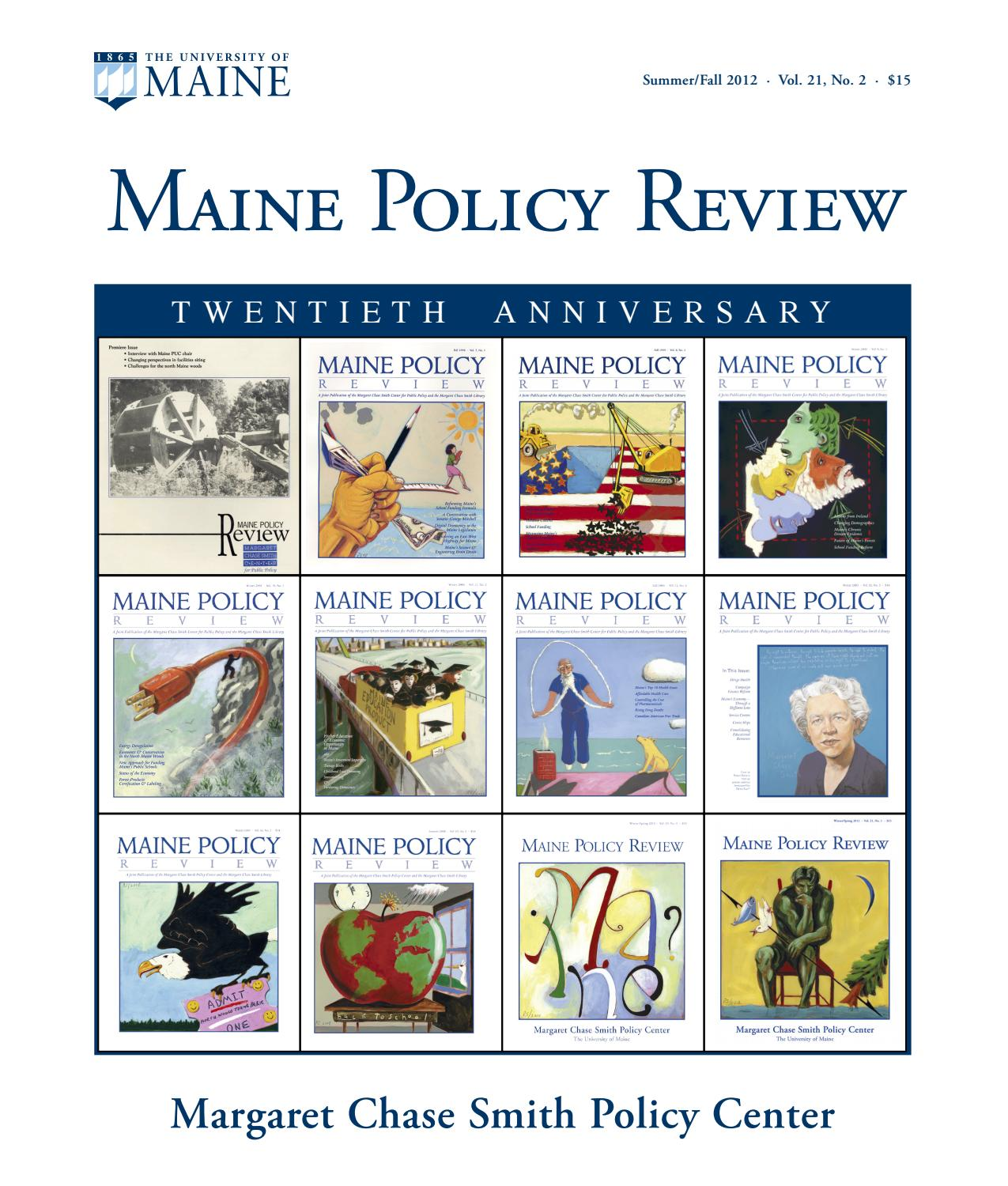 5072a9f23b22b Maine Policy Review Summer Fall 2012 by University of Maine - issuu