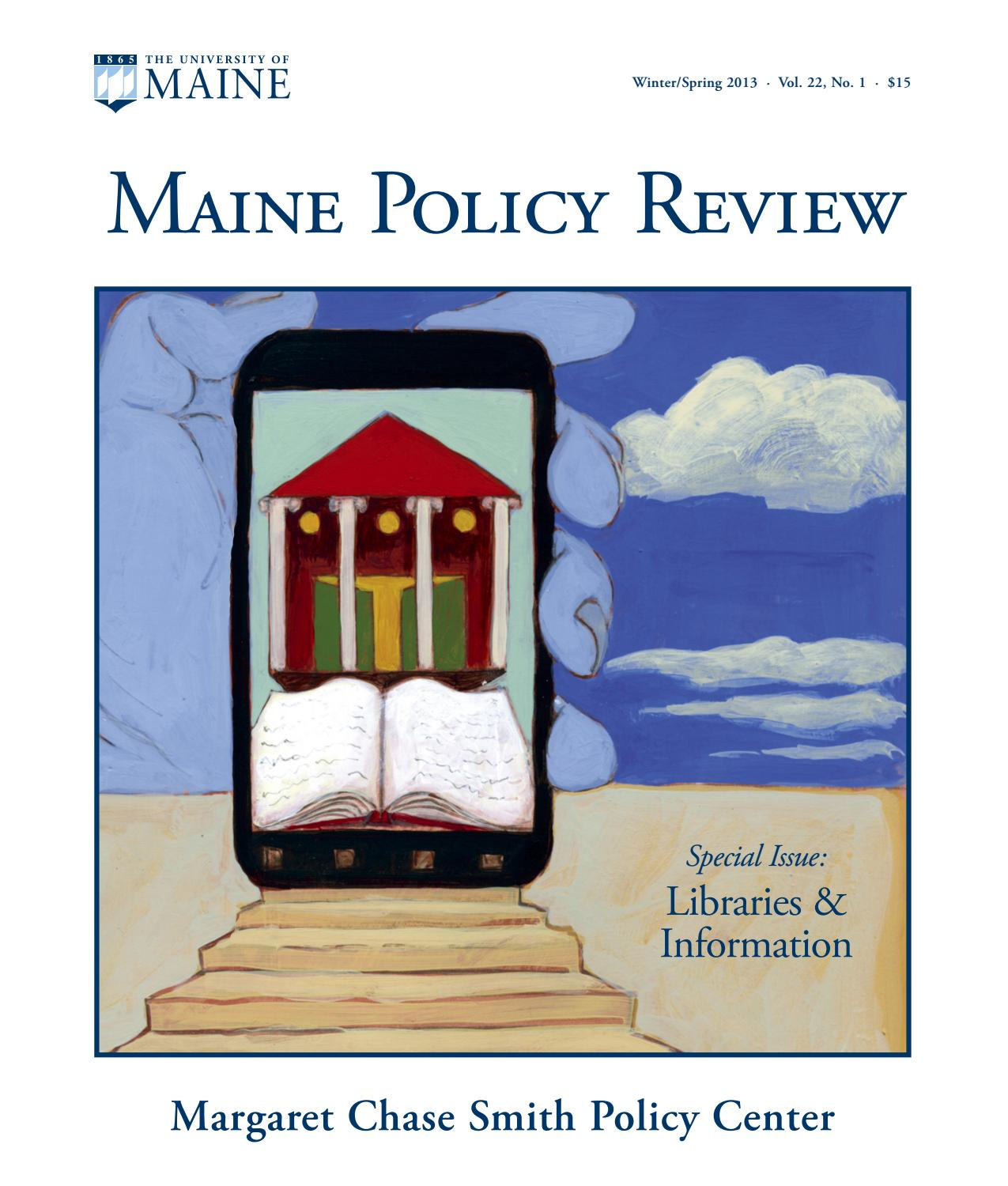 Maine Policy Review Winter/Spring 2013
