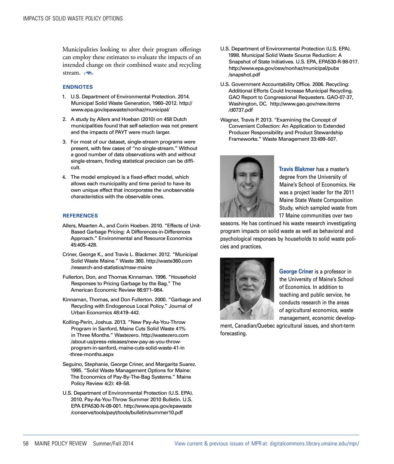 Maine Policy Review Summer/Fall 2014 by University of Maine - issuu