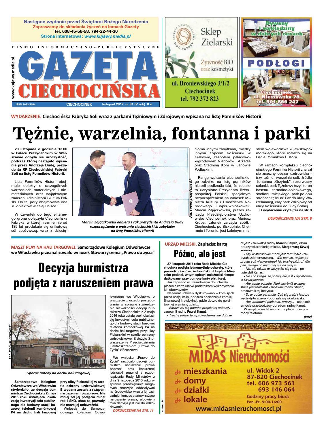 Gazeta Ciechocinska 81 2017 By Wydawnictwo Kujawy Issuu