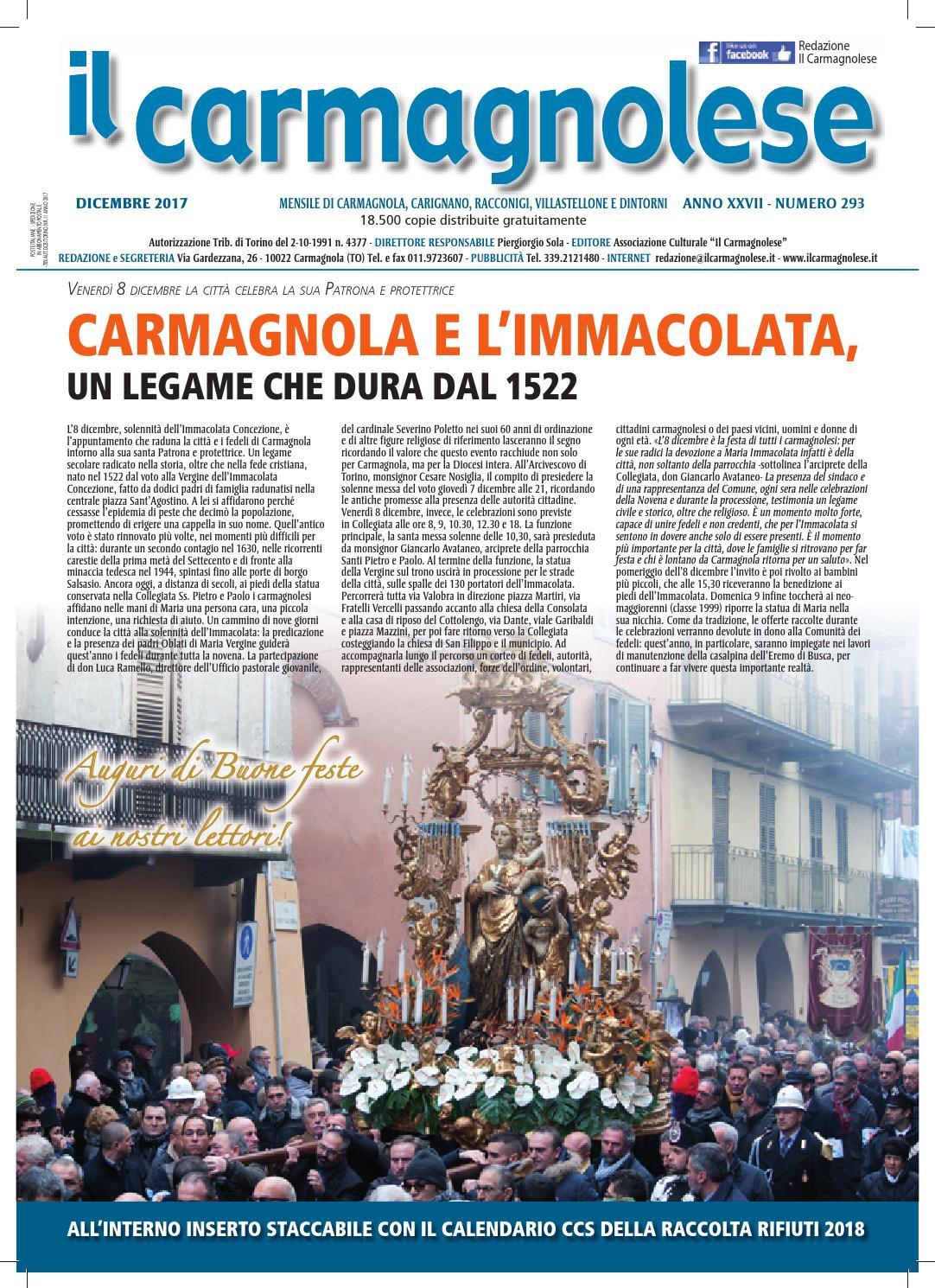 Il Carmagnolese Dicembre 2017 by Redazione Il Carmagnolese - issuu 763d90a88126
