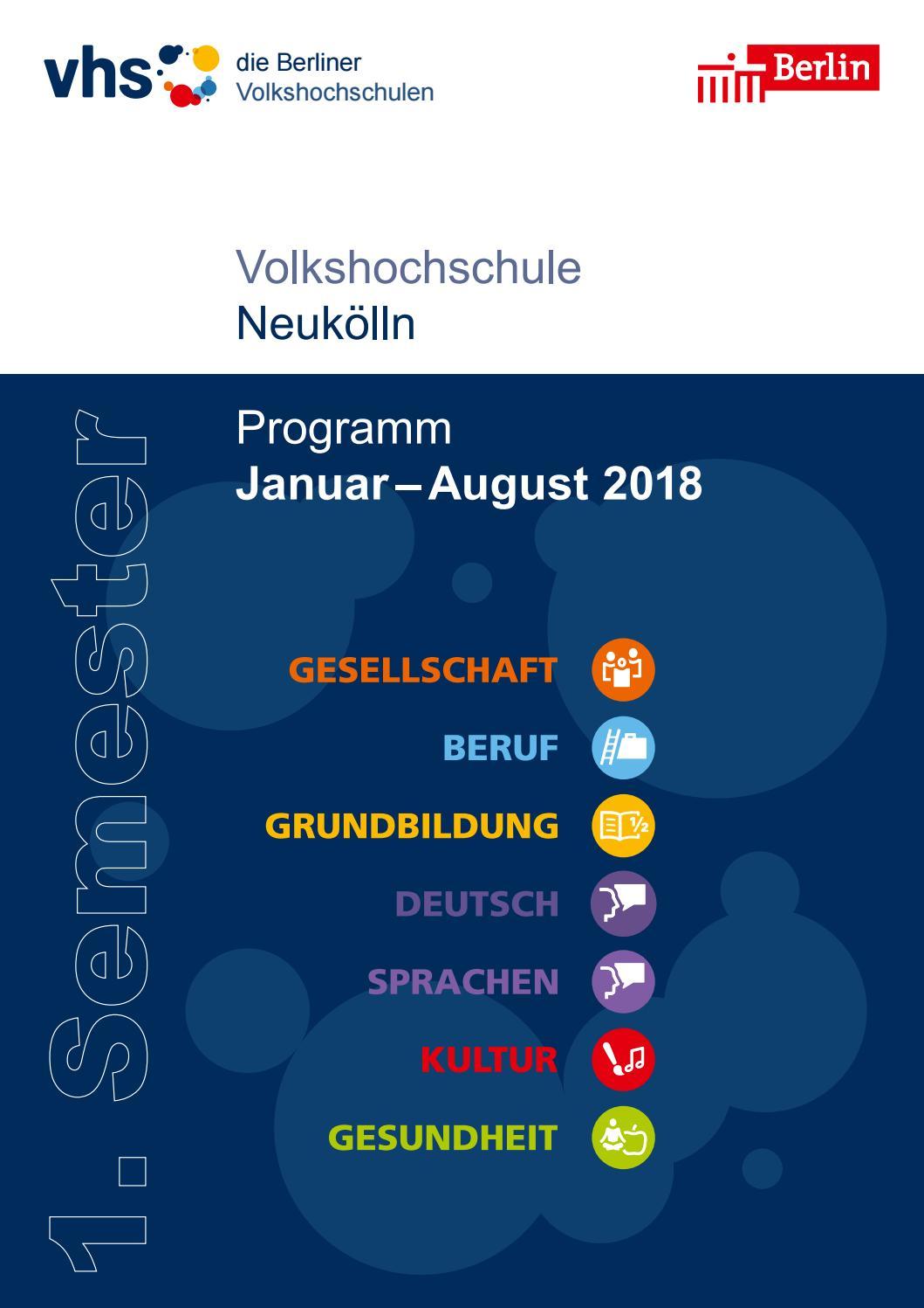 Lehrplan 1. Semester 2018 | VHS Neukölln Berlin by SINISSEY ...