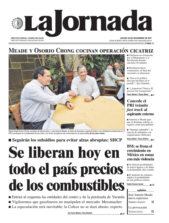 La Jornada, 11/30/2017 by La Jornada: DEMOS Desarrollo de Medios SA ...